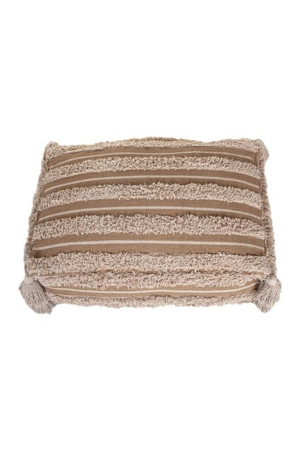 Image of Parkland Collection Houman Transitional Beige Pouf