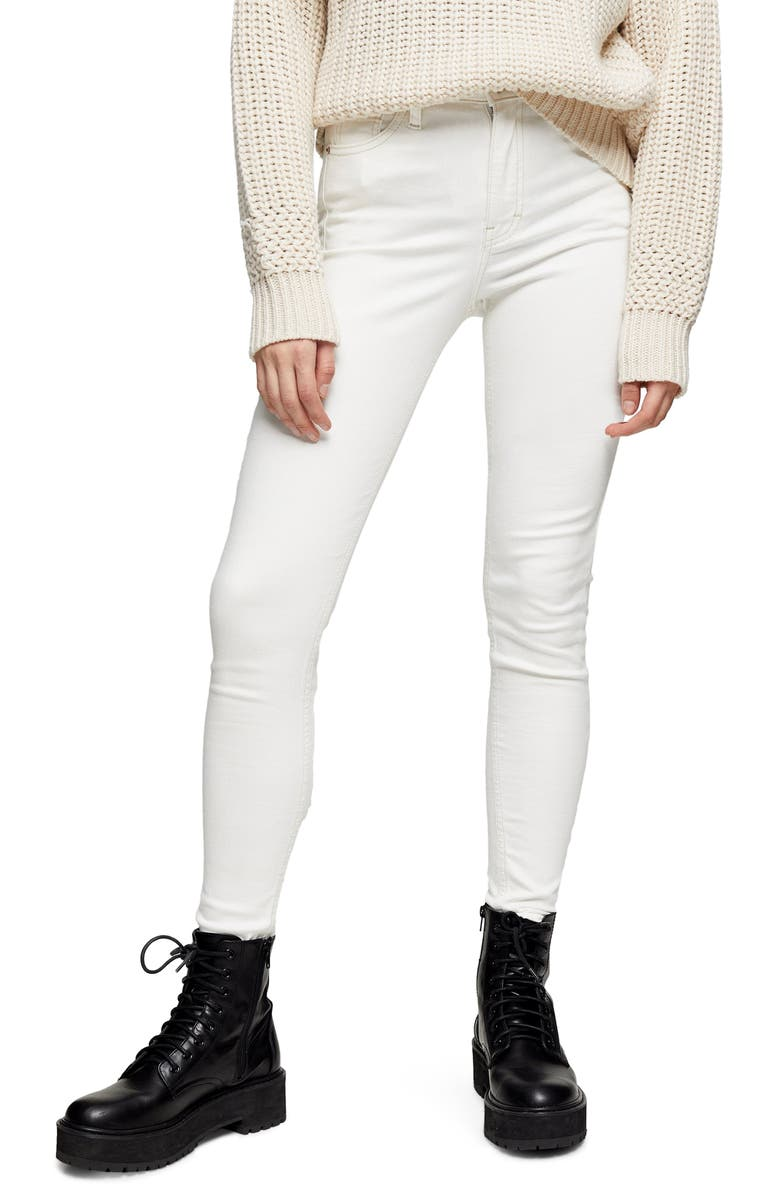 TOPSHOP Jamie High Waist Skinny Jeans, Main, color, OFF WHITE