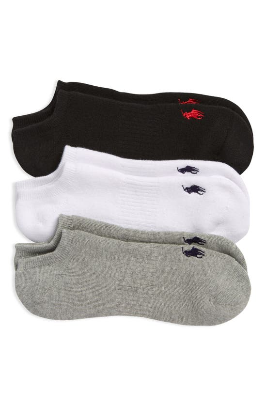 Polo Ralph Lauren Full Cushion 3-pack Low Cut Socks In Grey Heather