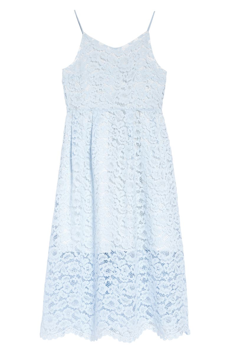NORDSTROM Lace Midi Dress, Main, color, BLUE OMPHALODES