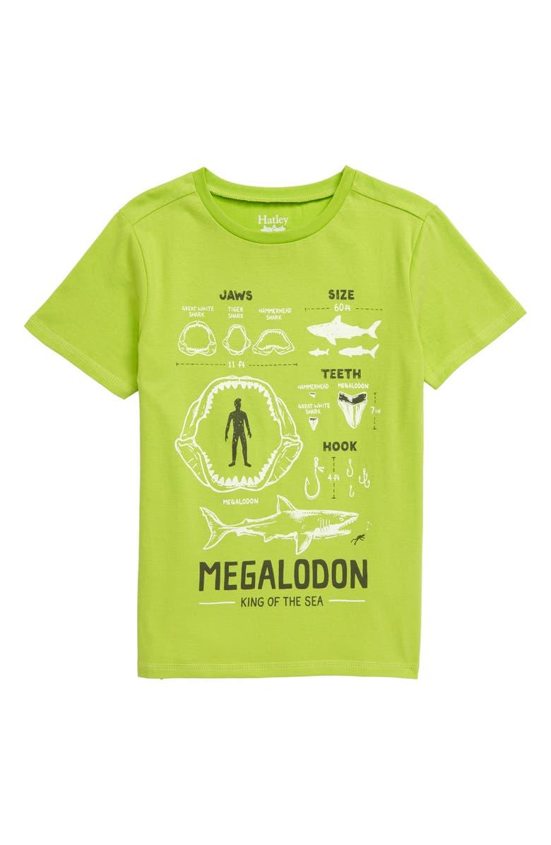 HATLEY Megalodon Graphic T-Shirt, Main, color, GREEN