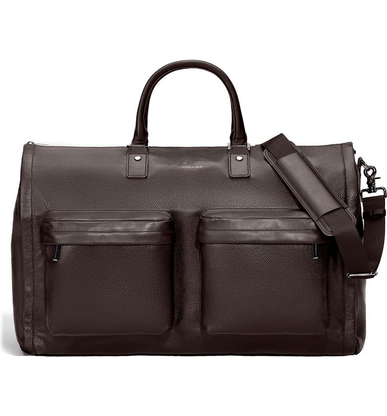 HOOK + ALBERT Garment Duffle Bag, Main, color, ESPRESSO