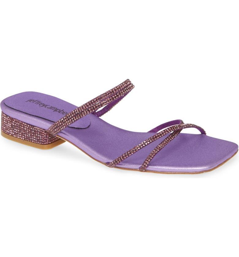 JEFFREY CAMPBELL Adalia Slide Sandal, Main, color, PURPLE COMBO
