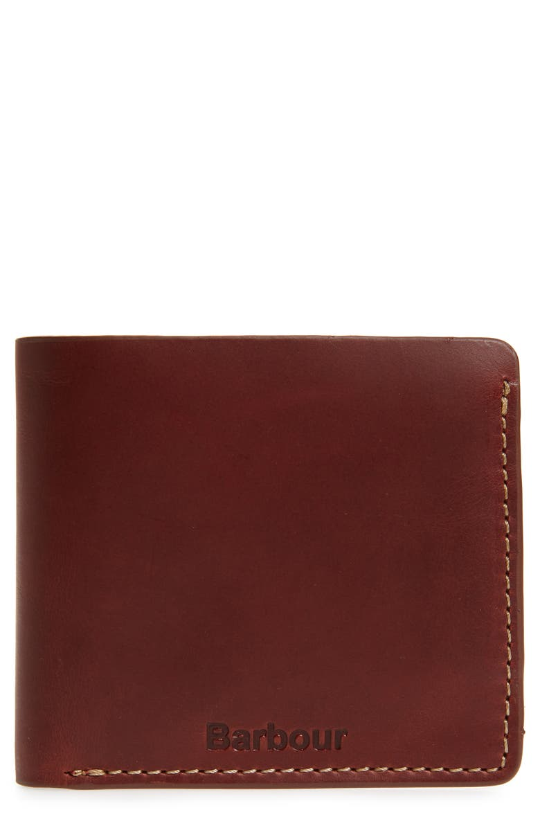 BARBOUR Leather Wallet, Main, color, 210