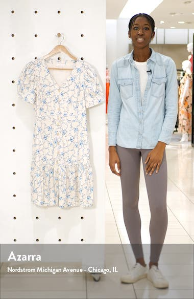 Flirty Easy Linen Blend Shirtdress, sales video thumbnail