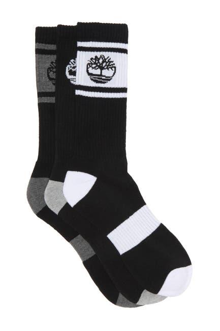 Image of Timberland Varsity Stripe Crew Socks - Pack of 3
