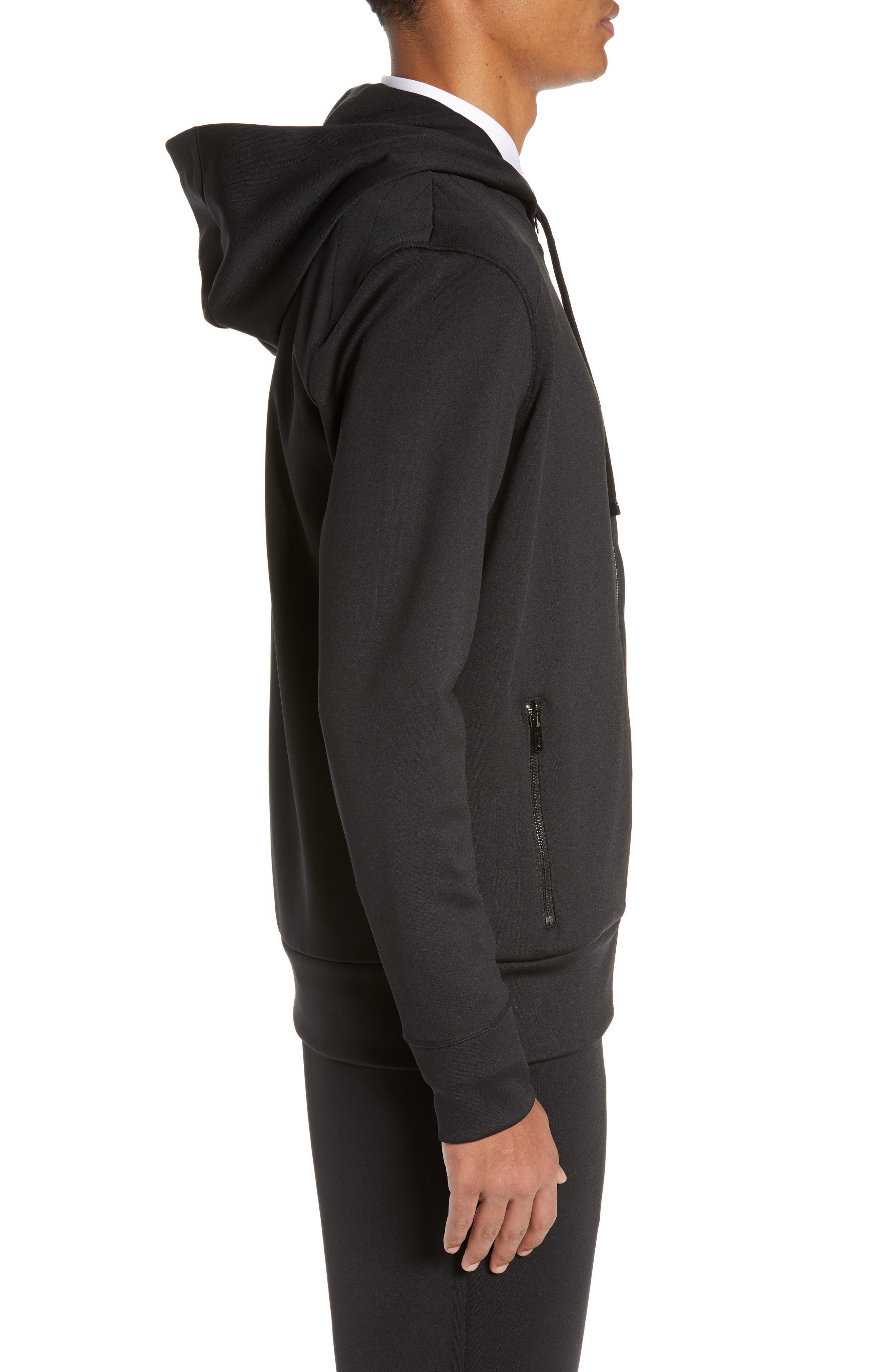 ,                             Dantony Regular Fit Zip Hoodie,                             Alternate thumbnail 3, color,                             BLACK