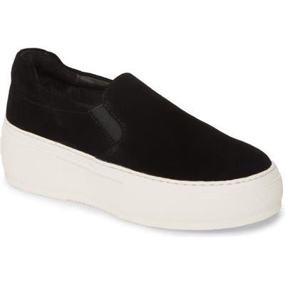 Jslides Cleo Platform Slip-On Sneaker, Black