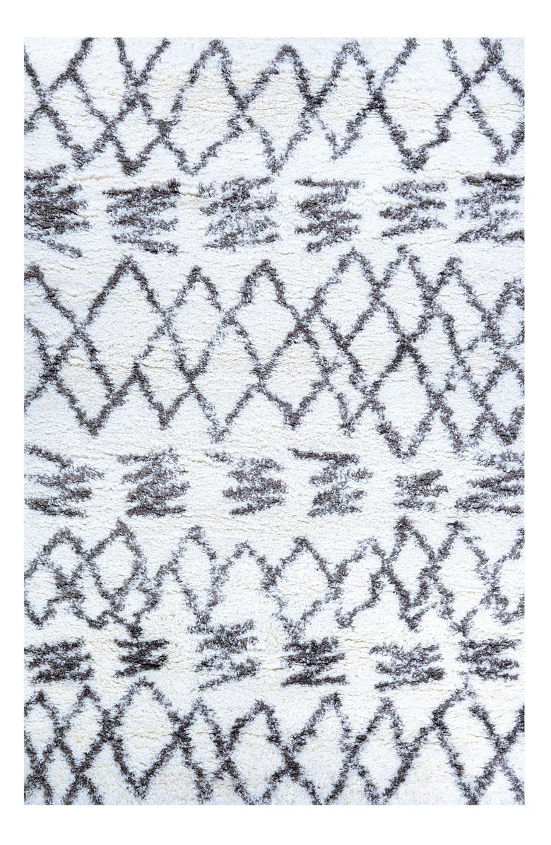 COURISTAN Urban Shag Kaza Rug, Main, color, WHITE/ MINK