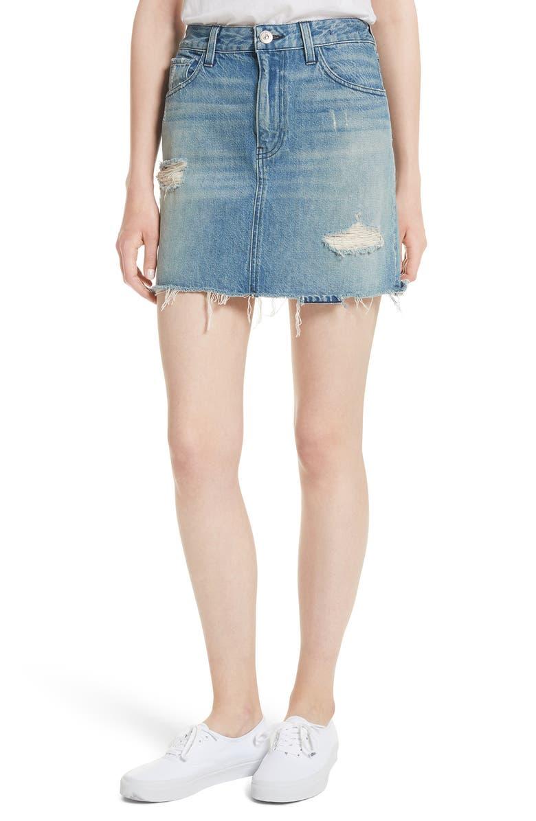 b329b1c683 3x1 NYC Celine Distressed Denim Skirt (Laz) | Nordstrom