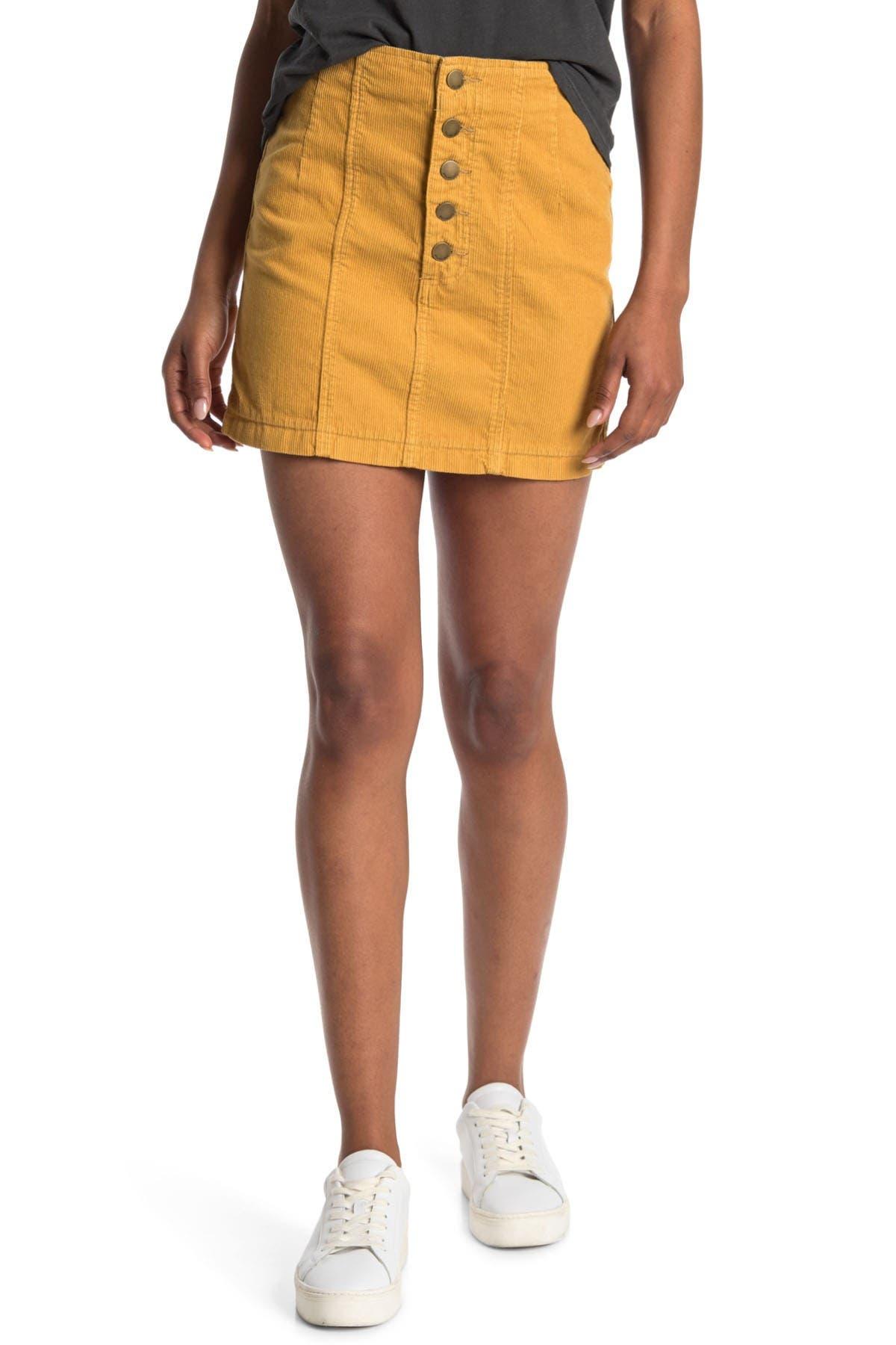 Image of Billabong Seams Like Corduroy Mini Skirt