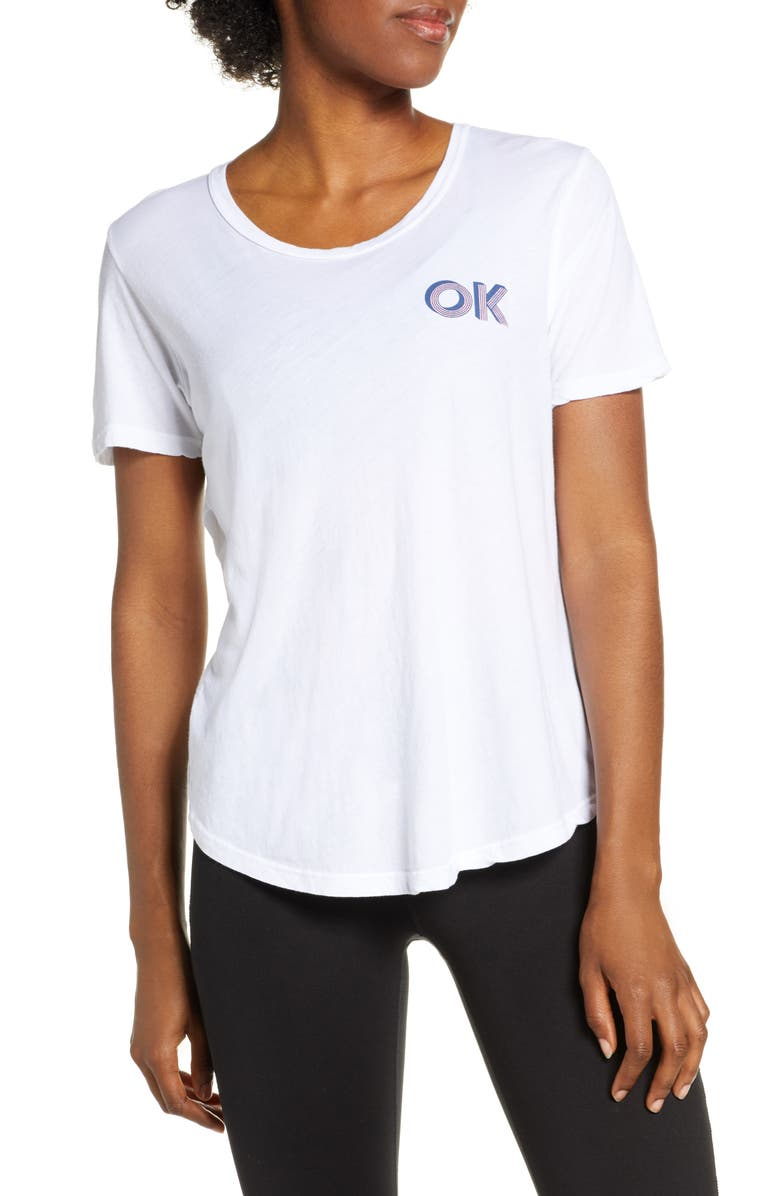 GOOD HYOUMAN Lexi OK Graphic Tee, Main, color, OPTIC WHITE