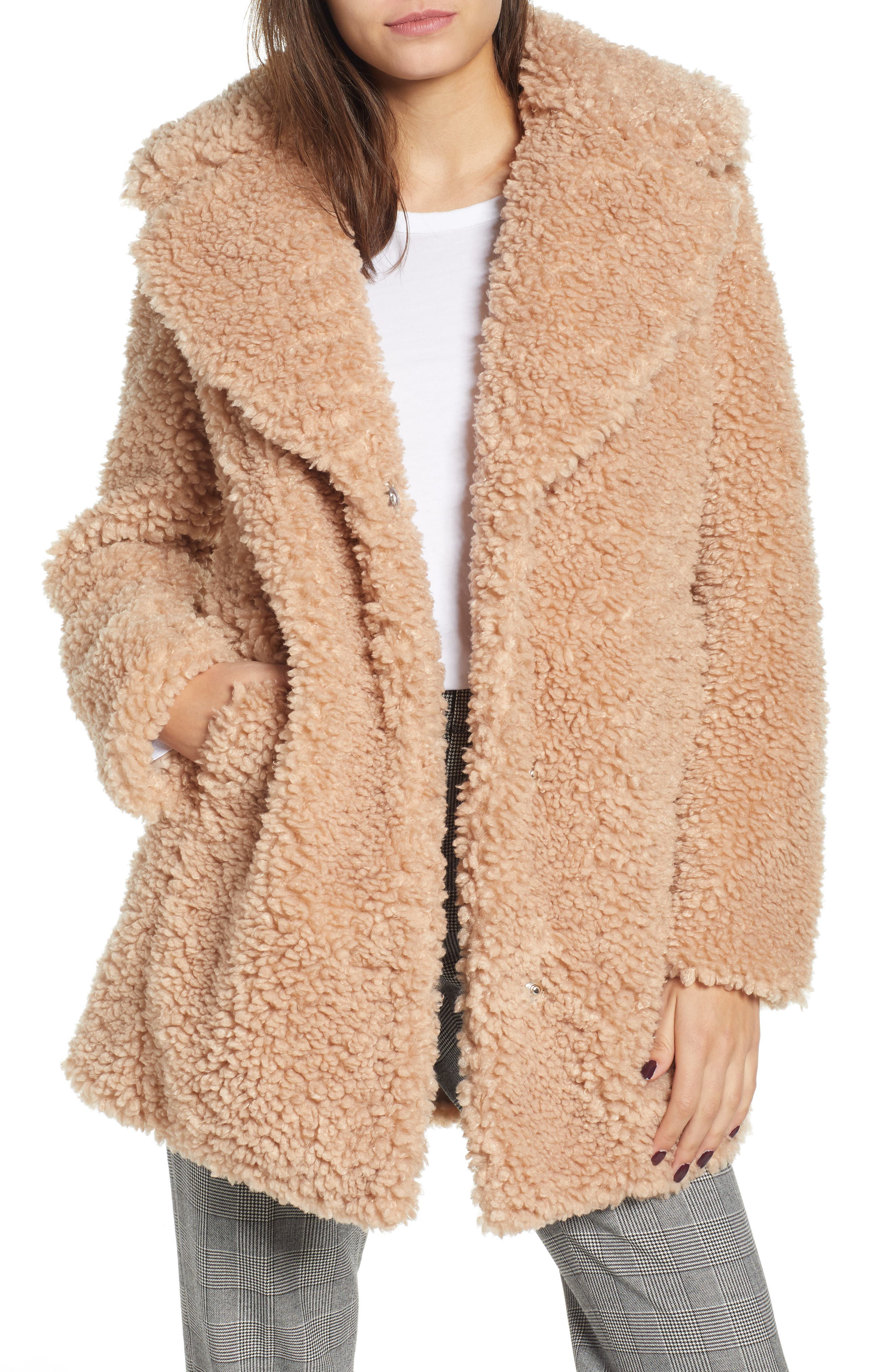 ,                             Faux Shearling Coat,                             Main thumbnail 14, color,                             900