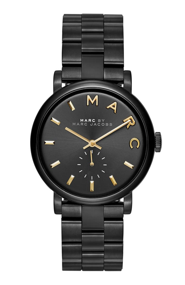 MARC JACOBS 'Baker' Bracelet Watch, 37mm, Main, color, 001
