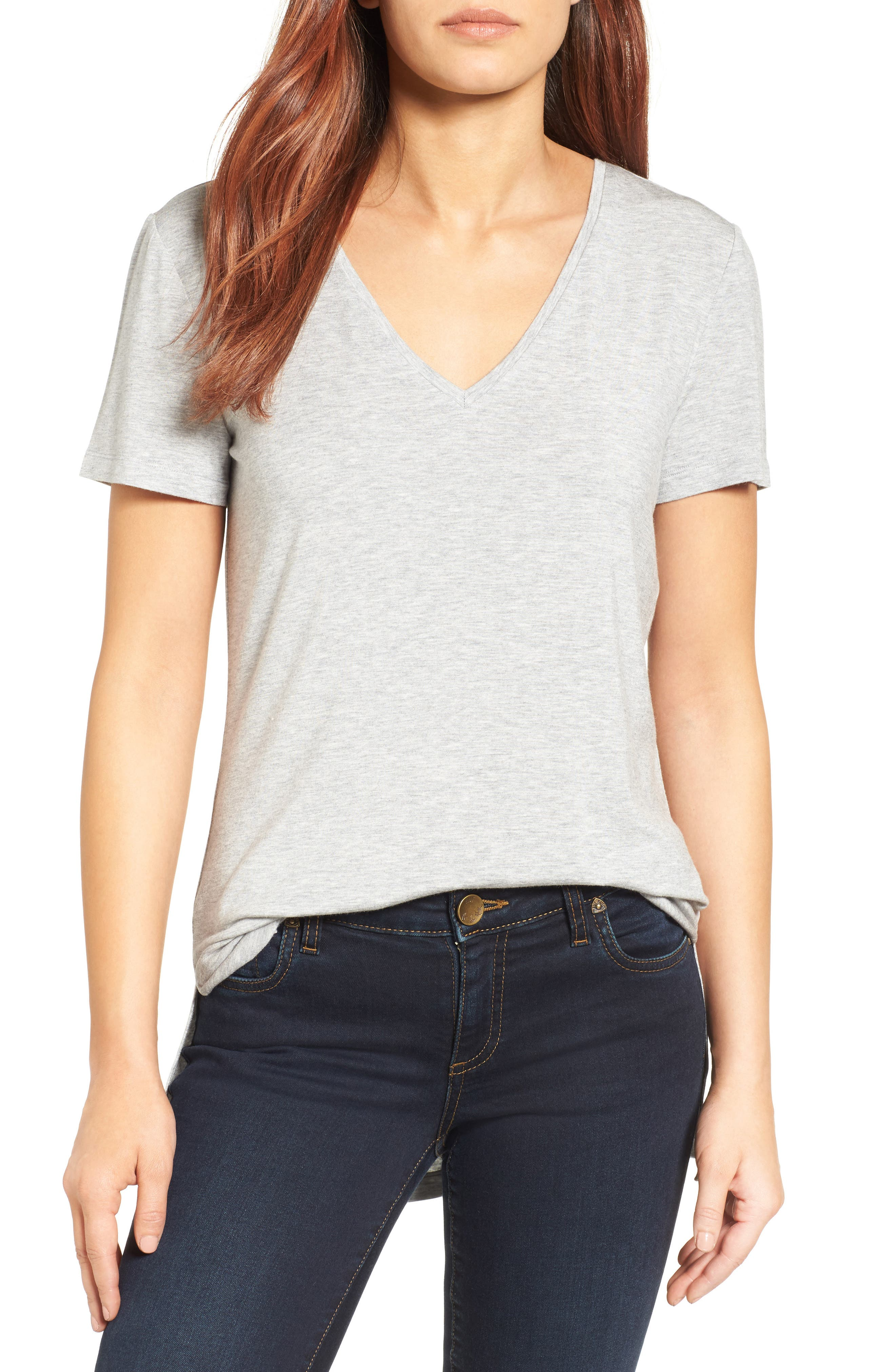 Women's Halogen V-Neck Tunic T-Shirt