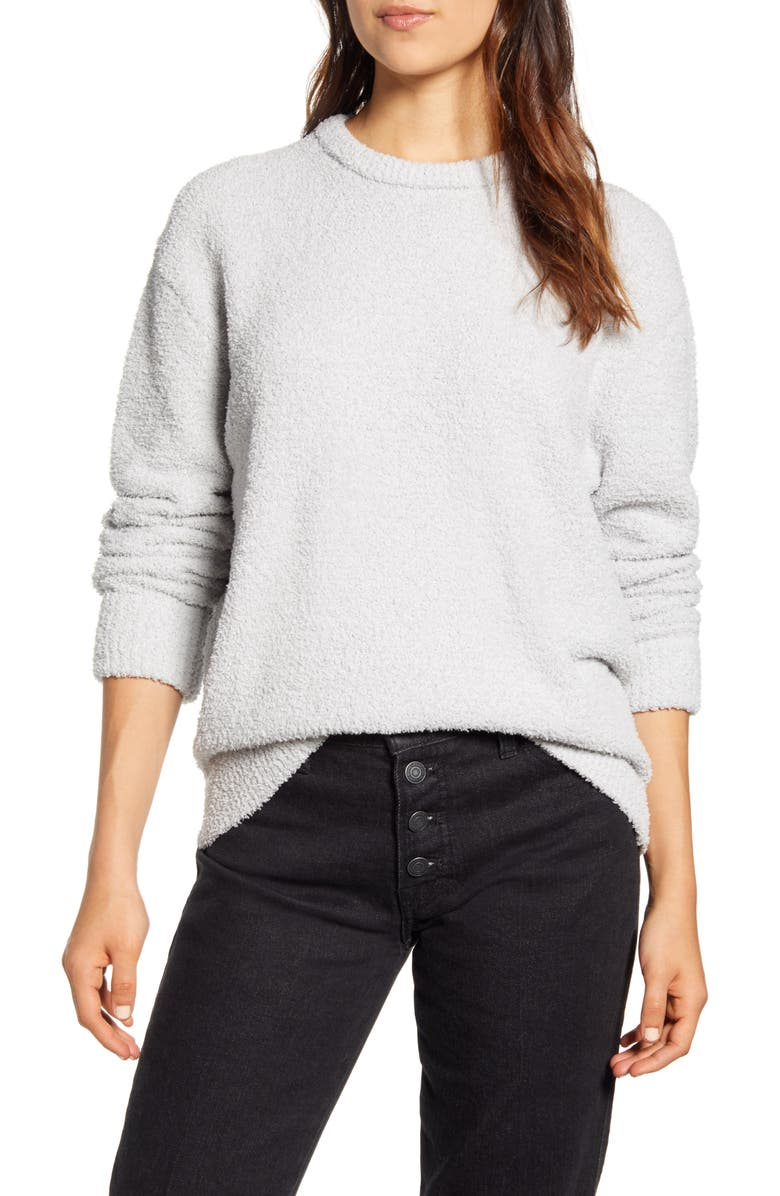 LUCKY BRAND Teddy Crewneck Sweater, Main, color, 060