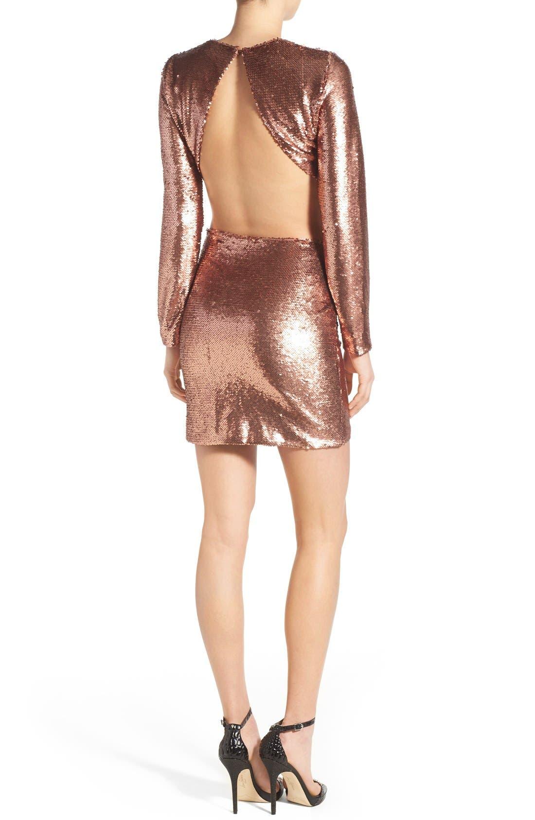 ,                             Sequin Miniskirt,                             Alternate thumbnail 4, color,                             220