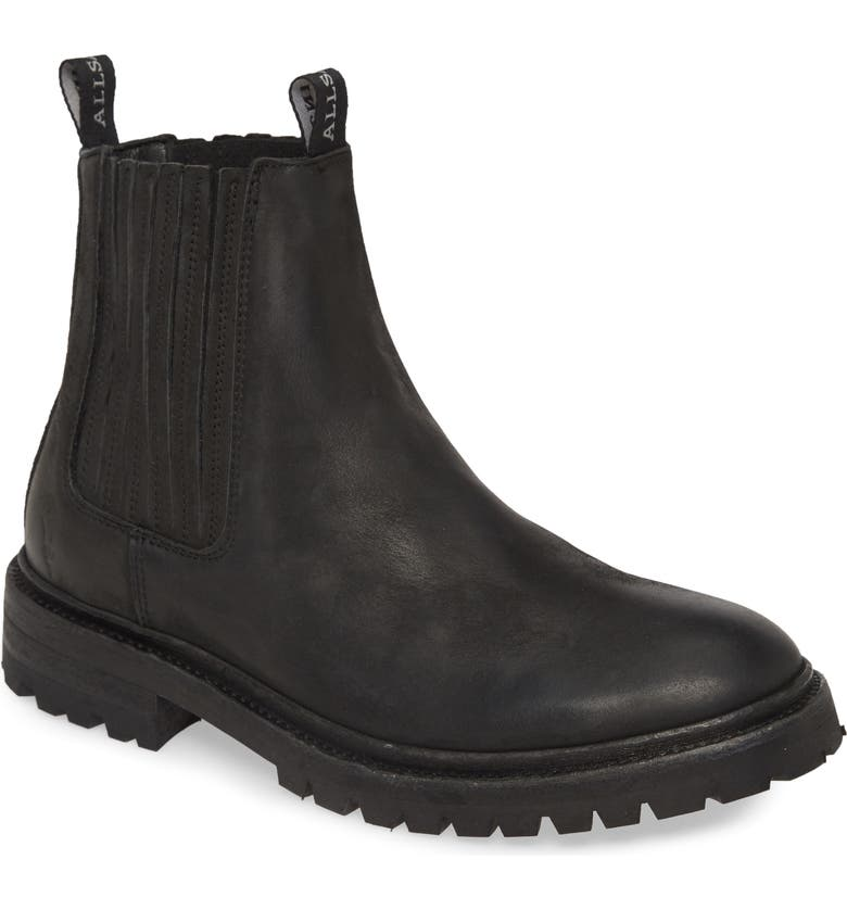 ALLSAINTS Nobel Two Chelsea Boot, Main, color, BLACK