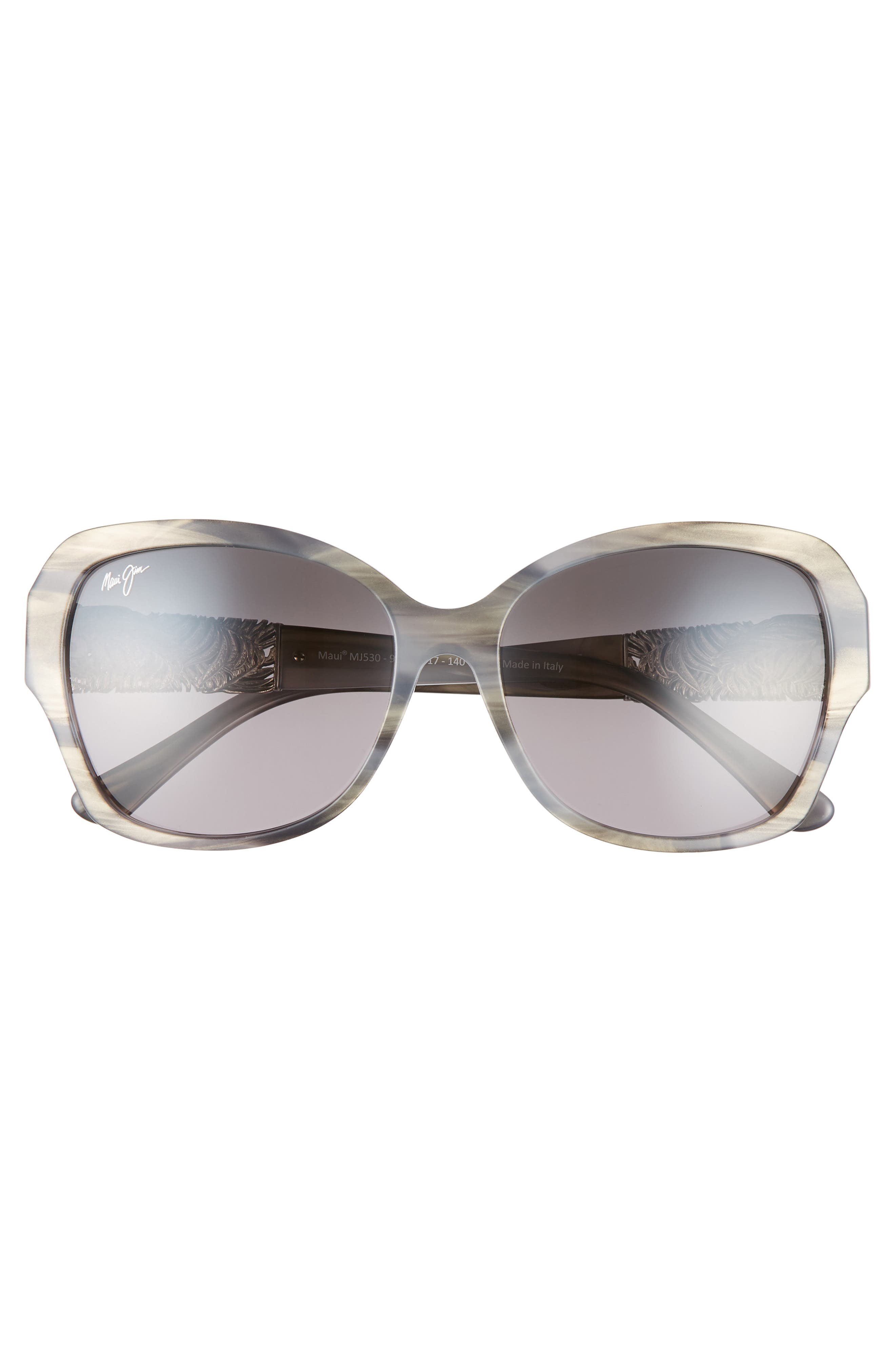 ,                             Swaying Palms 57mm Polarized Butterfly Sunglasses,                             Alternate thumbnail 3, color,                             BLUE GREY PEARL/ WHITE GOLD