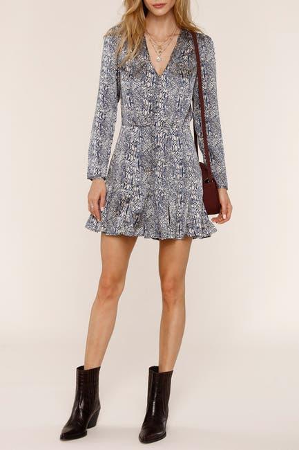 Image of Heartloom Vera Snakeskin Print Mini Dress