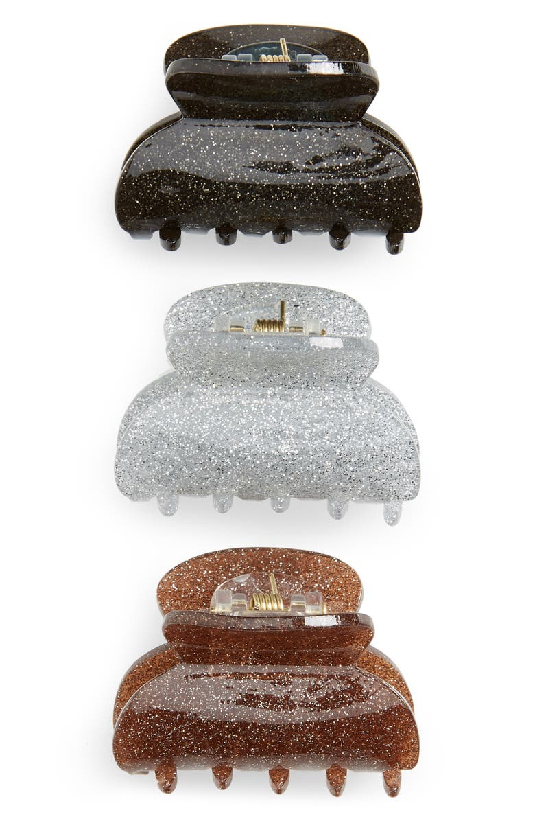 TASHA 3-Pack Glitter Jaw Clips, Main, color, 199