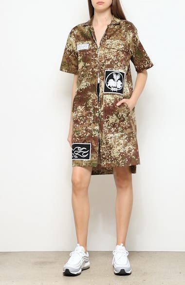 Patch Embroidered Camo Dress, video thumbnail