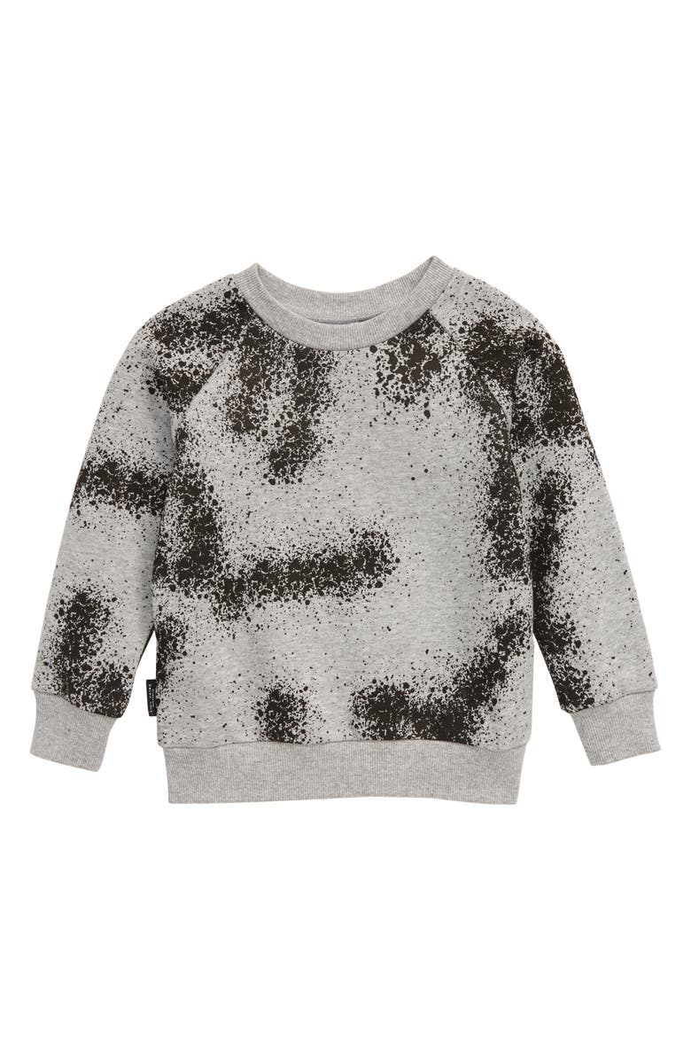 TINY TRIBE Spraypaint Sweater, Main, color, GREY MARLE