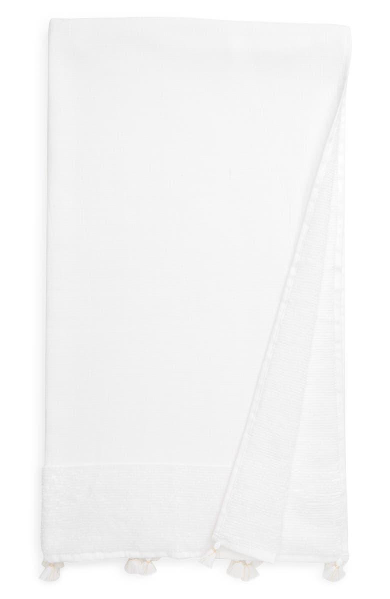 THE WHITE COMPANY Ines Bath Towel, Main, color, WHITE