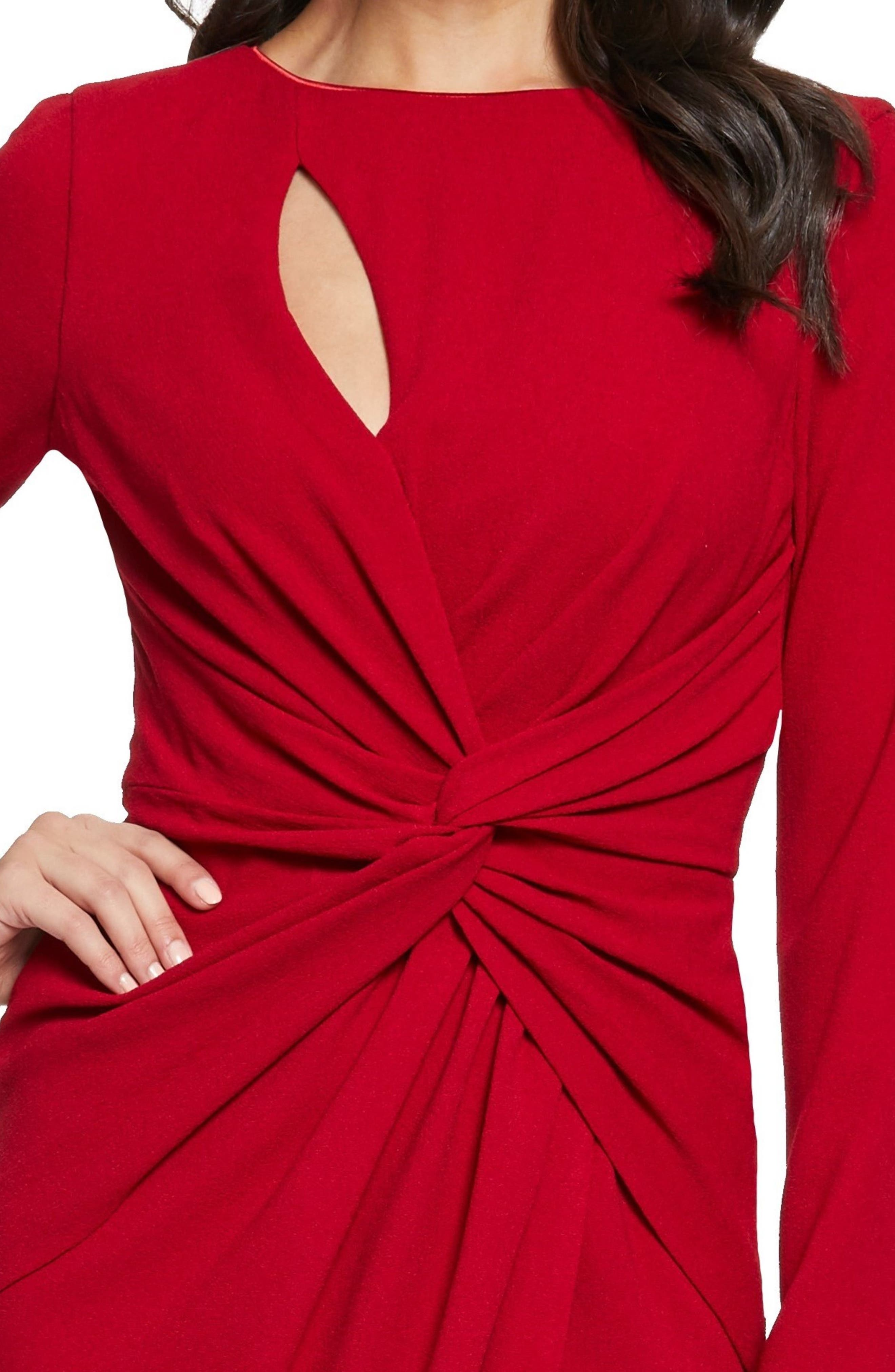 ,                             Coby Twisted Faux Wrap Cocktail Dress,                             Alternate thumbnail 18, color,                             600