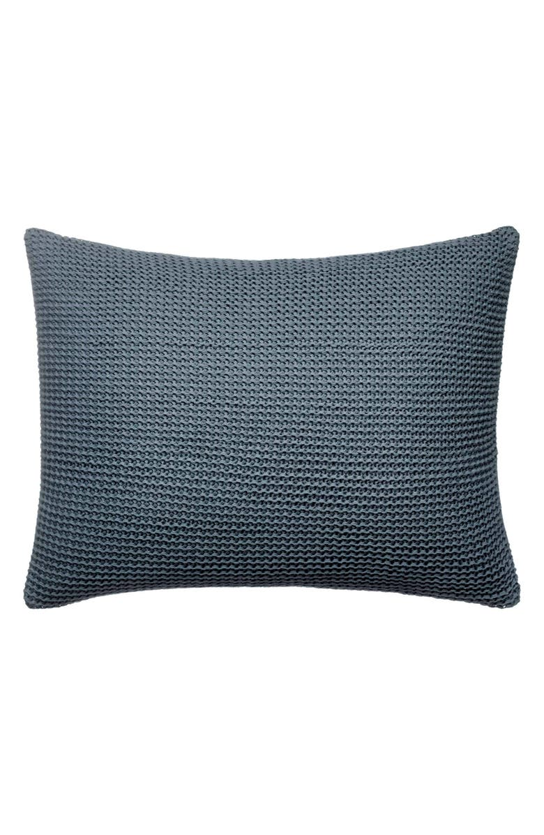 VERA WANG Marble Shibori Knit Accent Pillow, Main, color, DARK SILVER BLUE