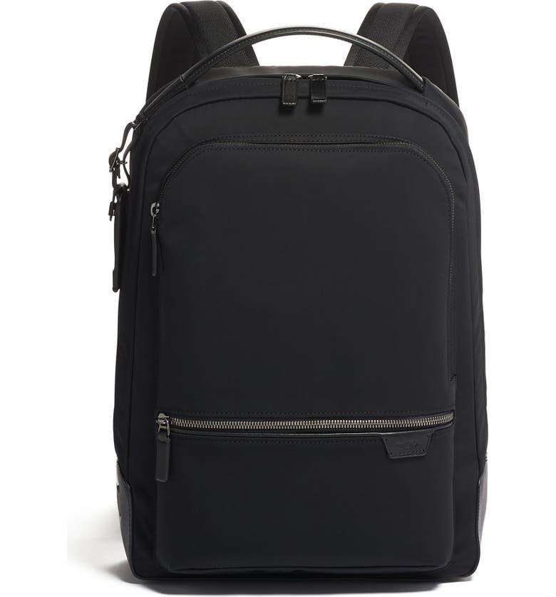 TUMI Bradner Nylon Tricot Laptop Backpack, Main, color, BLACK