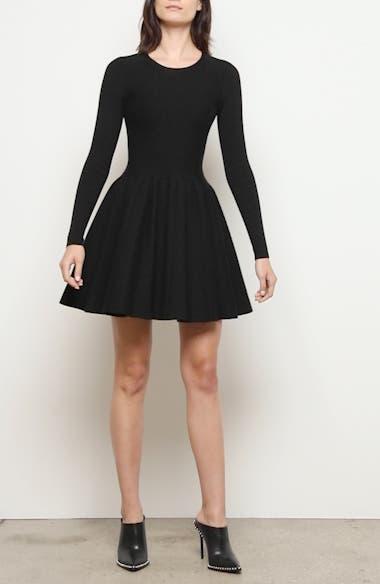 Long Sleeve Fit & Flare Dress, video thumbnail