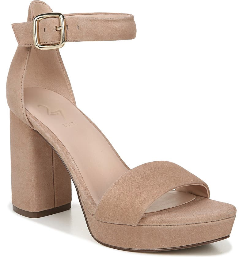 27 EDIT Briar Platform Sandal, Main, color, TAUPE SUEDE