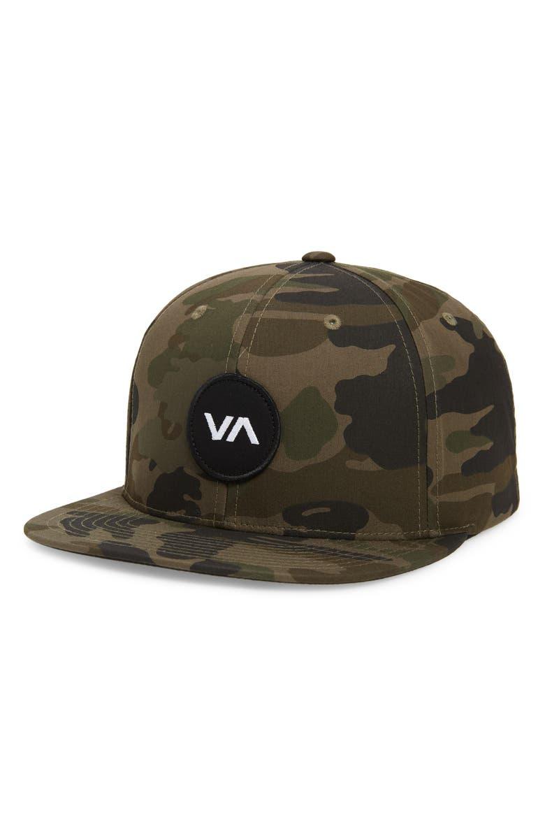 RVCA VA Patch Snapback Baseball Cap, Main, color, 300