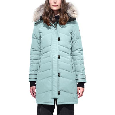 Canada Goose Lorette Hooded Down Parka With Genuine Coyote Fur Trim, (2) - Blue