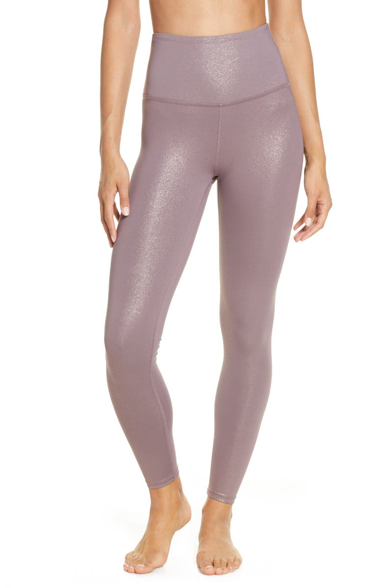 BEYOND YOGA Twinkle High Waist 7/8 Leggings, Main, color, WILD ORCHID-ROSE GOLD TWINKLE