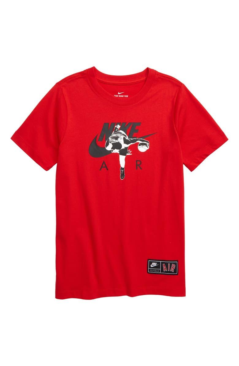 NIKE Sportswear Air Photo Graphic T-Shirt, Main, color, UNIVERSITY RED / BLACK