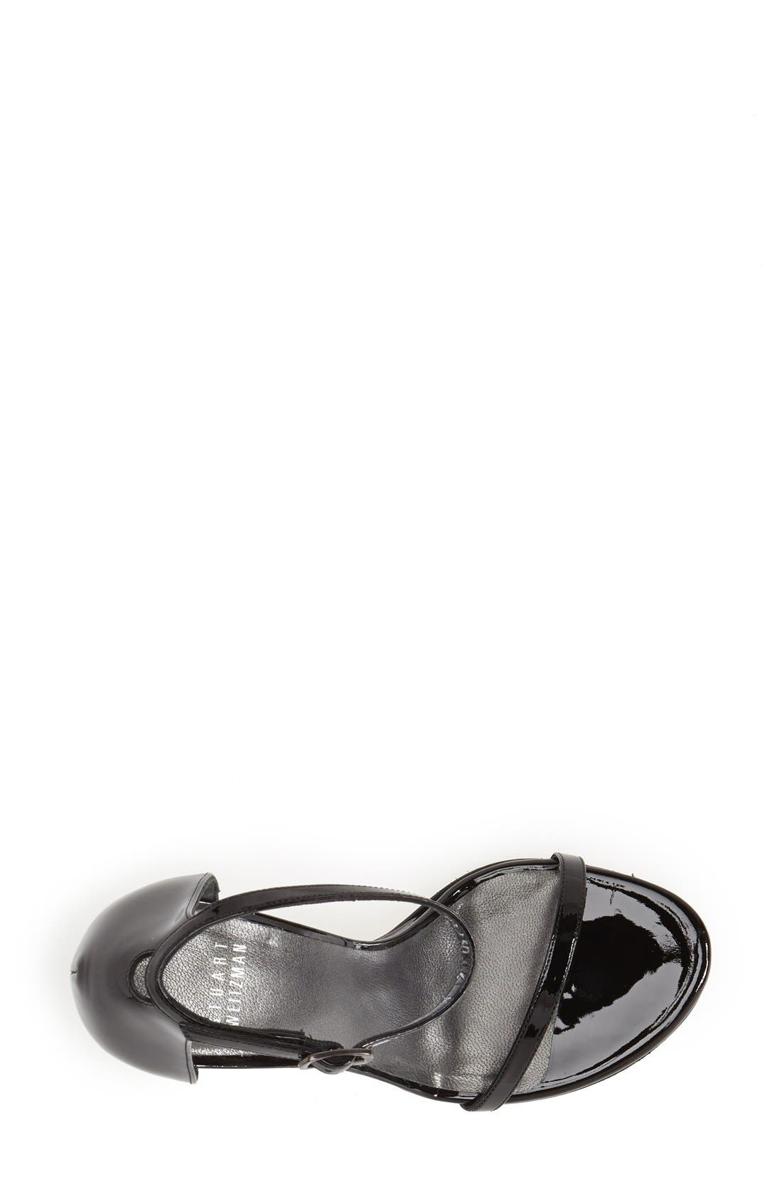 ,                             Nudistsong Ankle Strap Sandal,                             Alternate thumbnail 4, color,                             BLACK PATENT