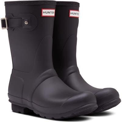 Hunter Original Insulated Short Waterproof Rain Boot, Black