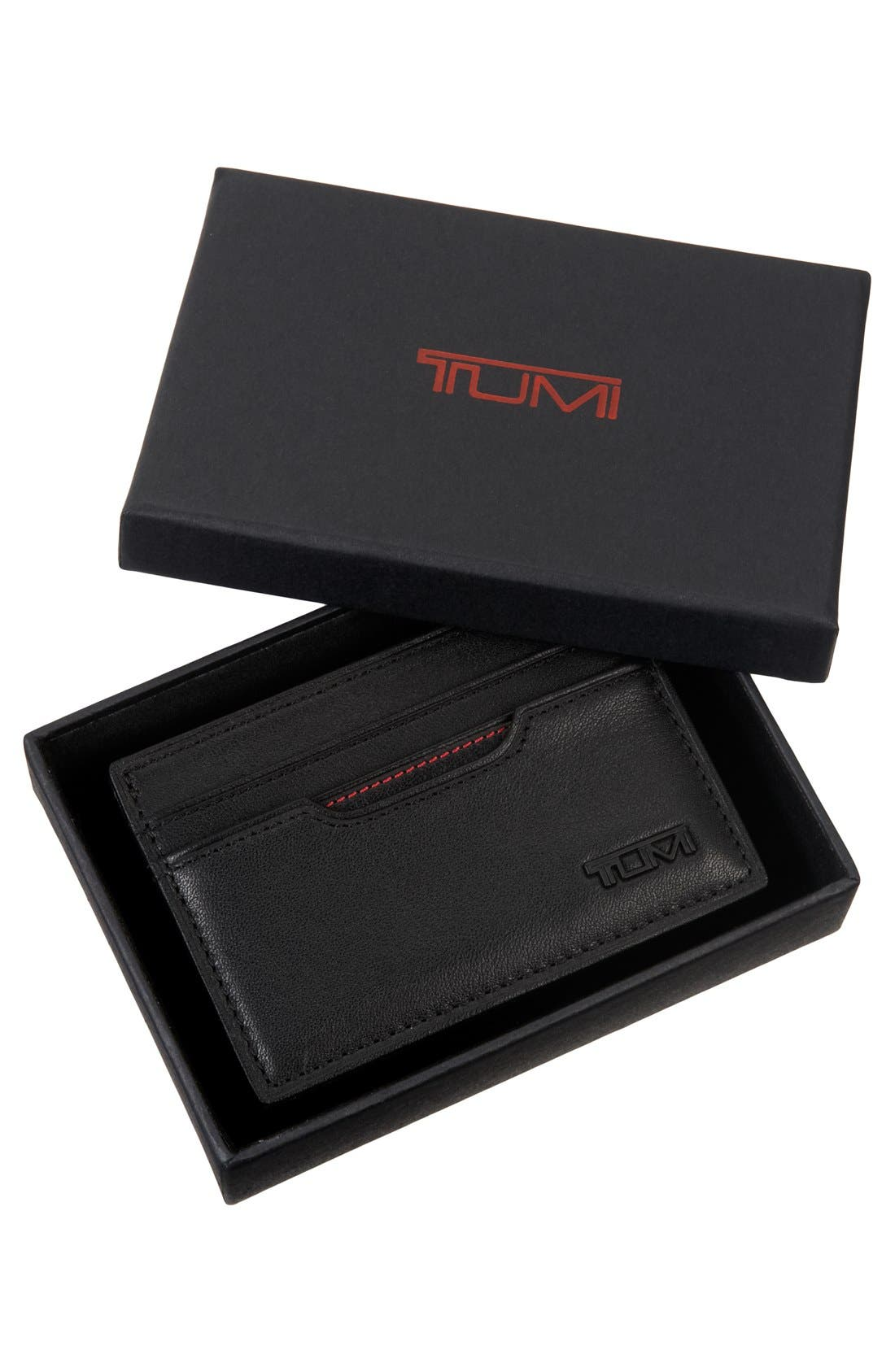 ,                             Delta - ID Lock<sup>™</sup> Shielded Slim Card Case & ID Wallet,                             Alternate thumbnail 4, color,                             BLACK
