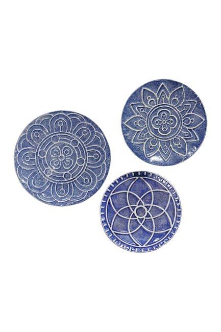 Image of Stratton Home Mykonos Metal Plates Wall Decor 3-Piece Set