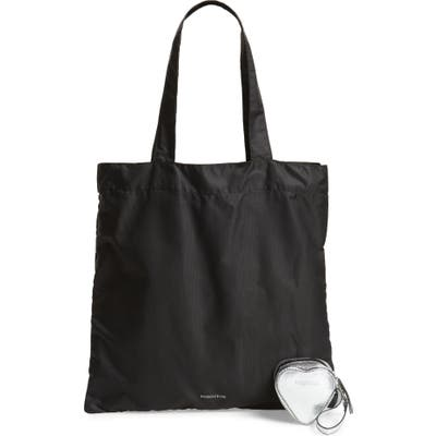 Nordstrom Heart Pouch & Packable Tote Set - Metallic