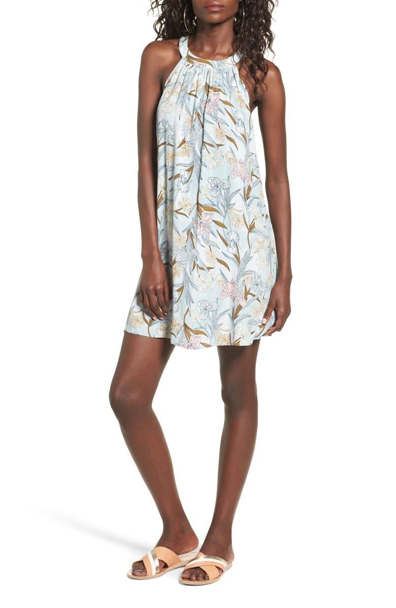 BP. Print Halter Dress, Main, color, 050
