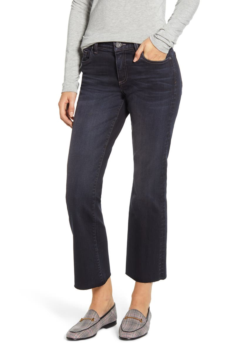 KUT FROM THE KLOTH Stella Kick Flare Crop Jeans, Main, color, 001