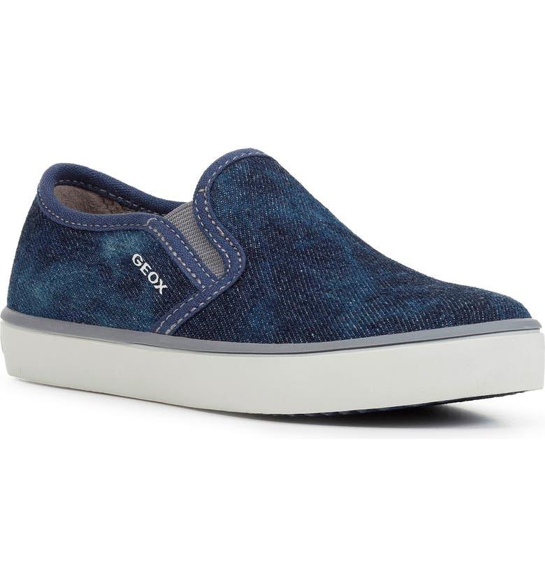 GEOX Kilwi 46 Slip-On Sneaker, Main, color, BLUE/ GREY