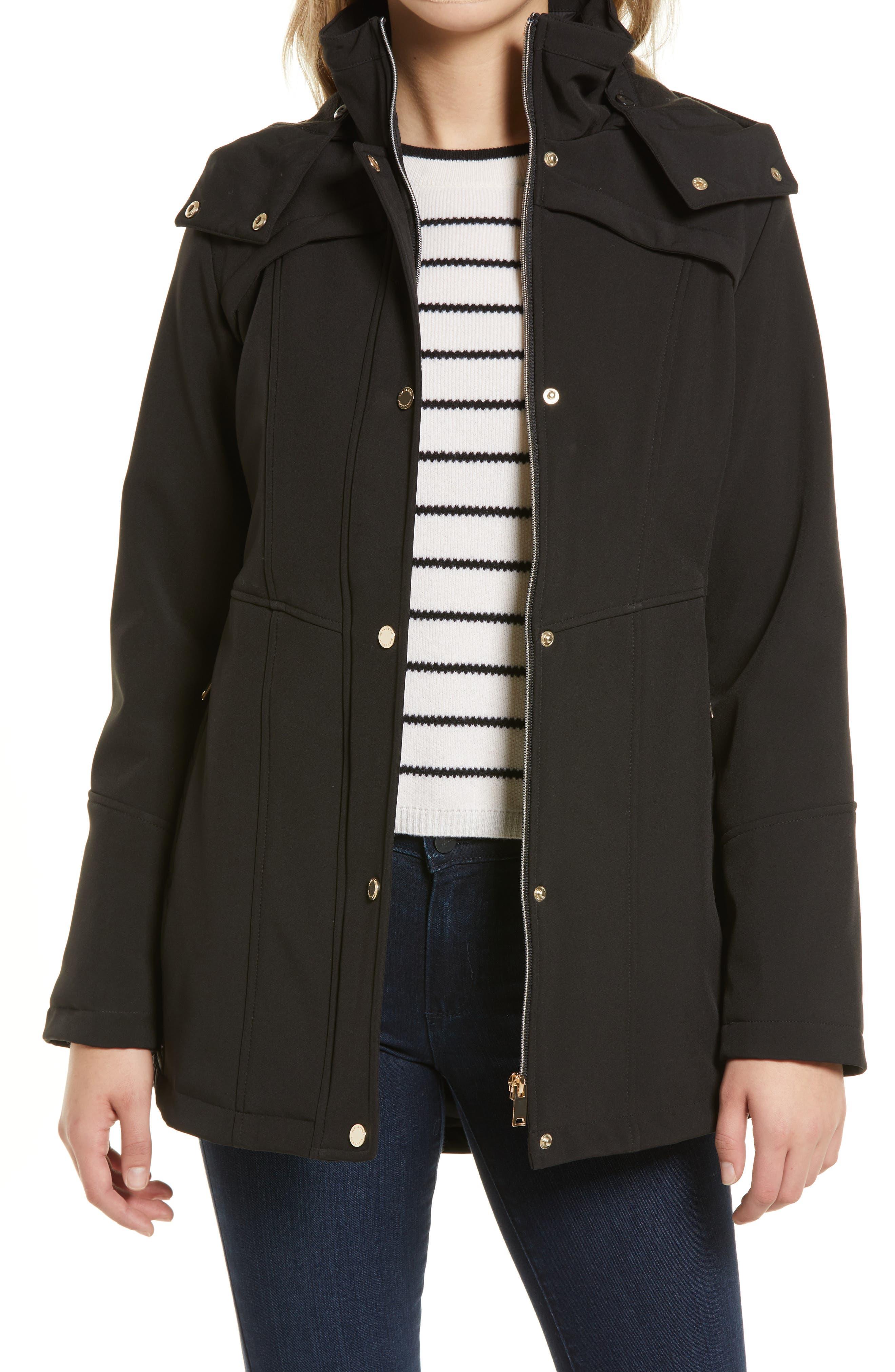 Women's Hooded Soft Shell Raincoat