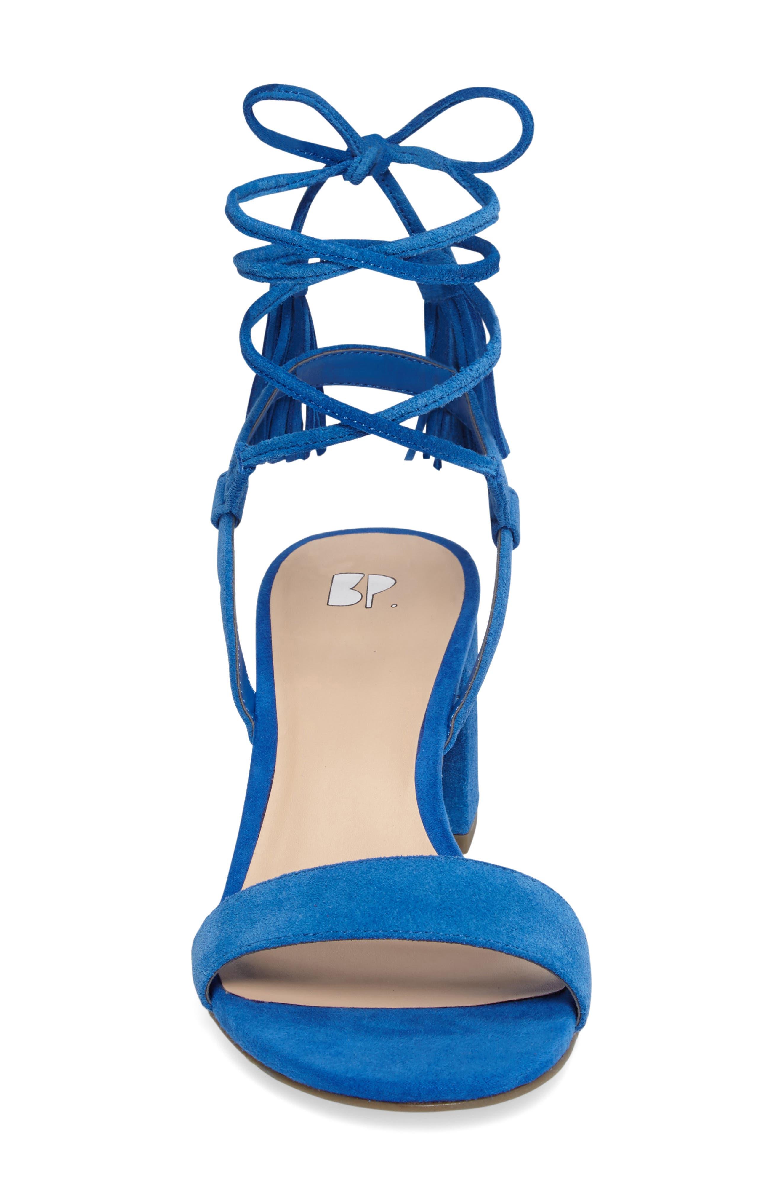 ,                             Karla Block Heel Ankle Wrap Sandal,                             Alternate thumbnail 9, color,                             402