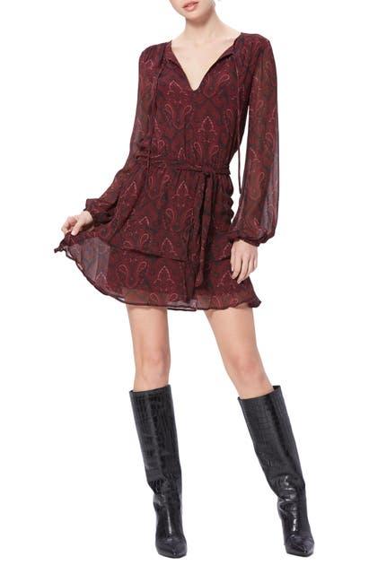 Paige Dresses DOAH PAISLEY LONG SLEEVE SILK MINIDRESS