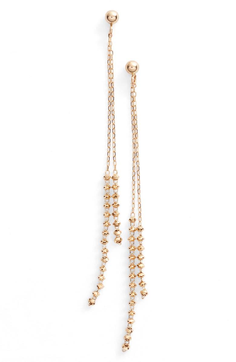 POPPY FINCH Double Shimmer Linear Drop Earrings, Main, color, 710