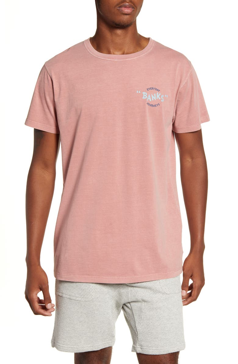 BANKS JOURNAL Around Faded T-Shirt, Main, color, DUST PINK